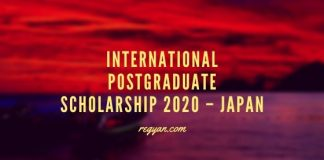International Postgraduate Scholarship 2020