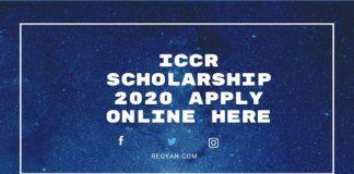 ICCR Scholarship 2020