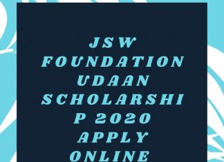 JSW Foundation Udaan Scholarship 2020