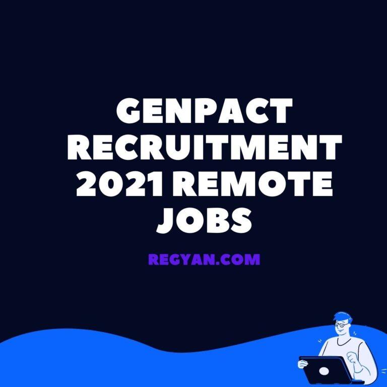 GENPACT Recruitment 2021 Remote Jobs